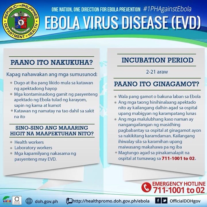 DOH - Ebola Virus Disease